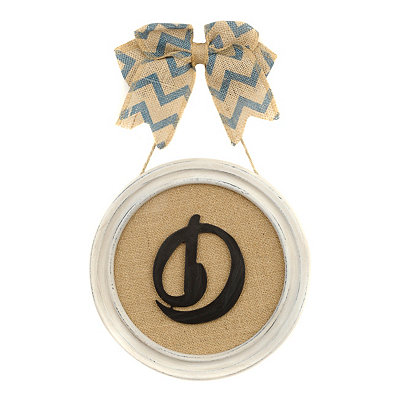Round Framed Monogram D Plaque