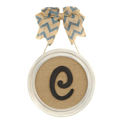 Round Framed Monogram C Plaque
