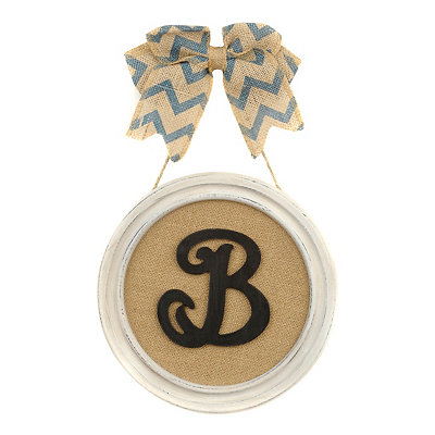 Round Framed Monogram B Plaque