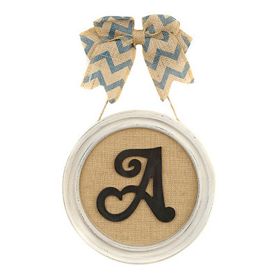 Round Framed Monogram A Plaque