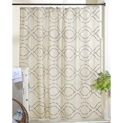 Stone Trellis Shower Curtain