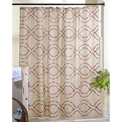 Red Trellis Shower Curtain