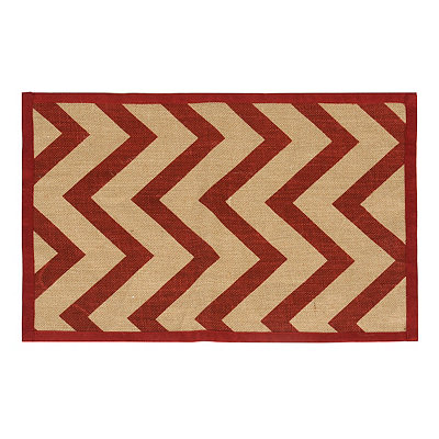 Red Chevron Burlap Placemat