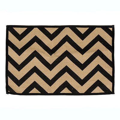Black Chevron Burlap Placemat