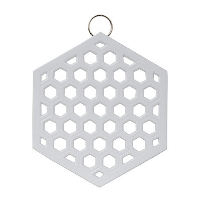 White Chevron Iron Trivet