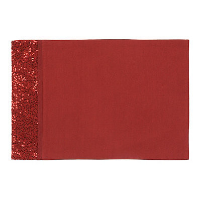Red Glitz Sequined Placemat