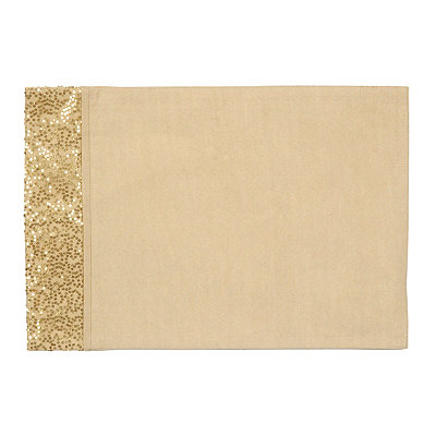 Gold Glitz Sequined Placemat