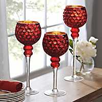Red Honeycomb Charismas, Set of 3