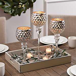 Silver Honeycomb Charismas, Set of 3