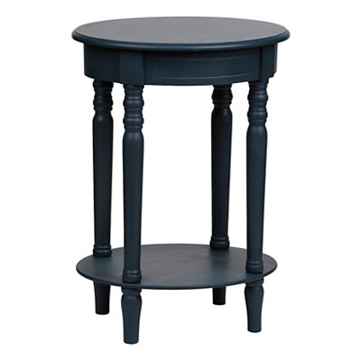 Dark Blue Oval Accent Table