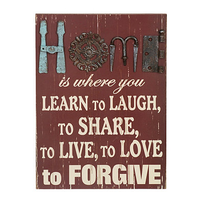 Rustic Home is Where You Learn Plaque