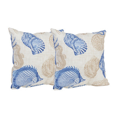 Navy Marina Outdoor Accent Pillows, Set of 2