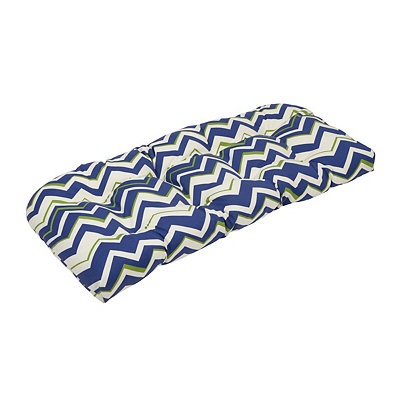 Tempest Navy Outdoor Settee Cushion