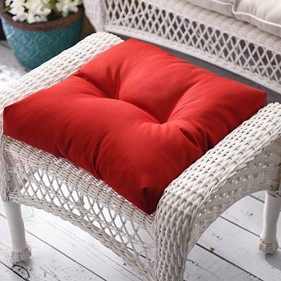 Pompeii Red Outdoor Ottoman Cushion
