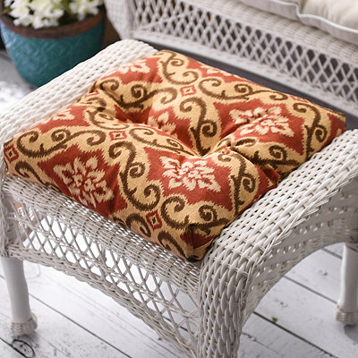 Shoreham Brick Outdoor Ottoman Cushion