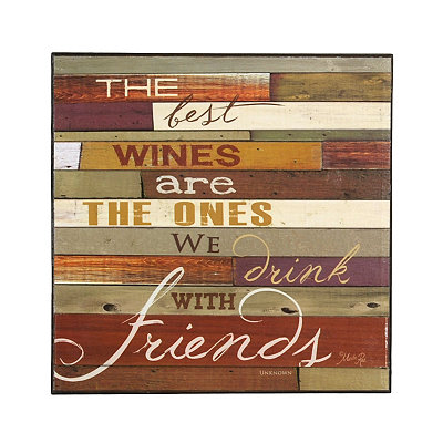 The Best Wines Wooden Plaque