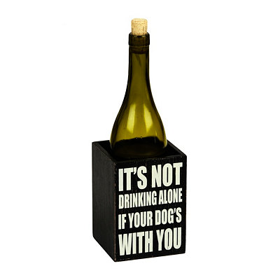 Not Drinking Alone Wine Caddy