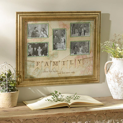 Antique Gold Family Collage Frame