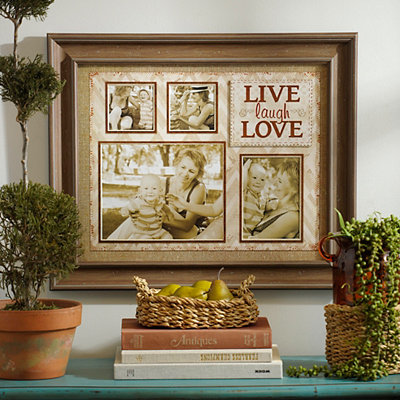 Brown Live, Laugh, Love Collage Frame