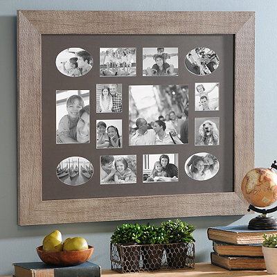 Rustic White Collage Frame