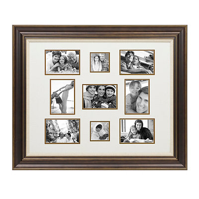 Dark Bronze 9-Opening Collage Frame