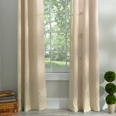 Tan Otto Curtain Panel Set, 96 in.