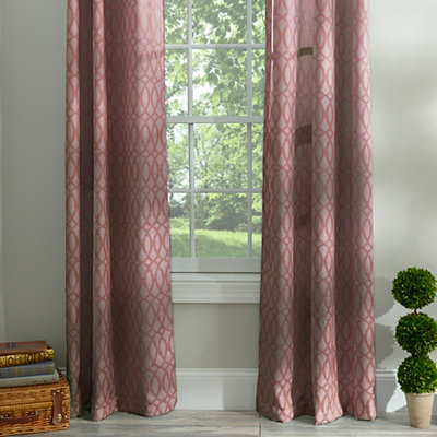 Red Otto Curtain Panel Set, 96 in.