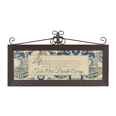Life's Moments Fleur-de-Lis Top Metal Plaque