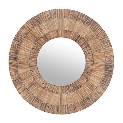 Sandwood Round Framed Mirror, 32 in.