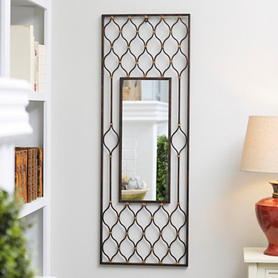 Dinah Bronze Framed Mirror, 17x45