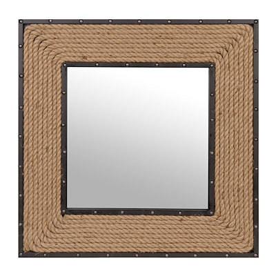 Rope Framed Mirror, 32x32
