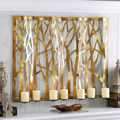 Fabrice Gold 7-Pillar Candle Holder