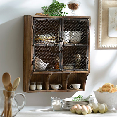 Weathered Natural Wall Cabinet