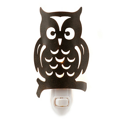 Bronze Metal Owl Night Light