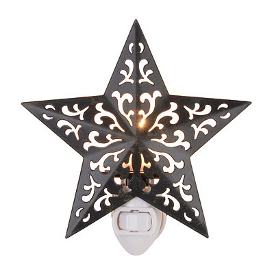 Bronze Metal Star Night Light