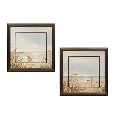 Tidal Flats Framed Art Prints, Set of 2