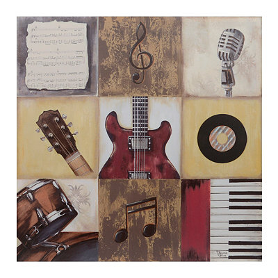 Rock the Music Canvas Art Print