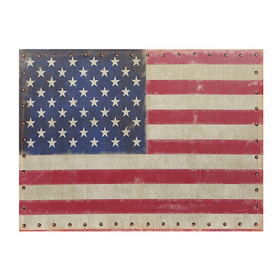 Vintage American Flag Canvas Art Print