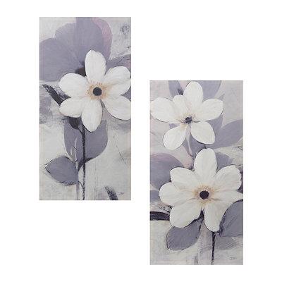 Japanese Anemones Canvas Art Print, Set of 2
