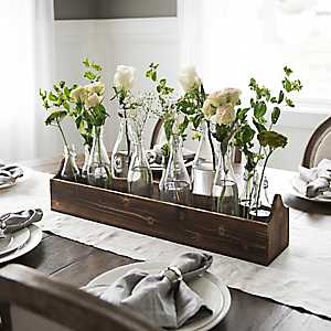 Glass Bottle Vase Runner Set