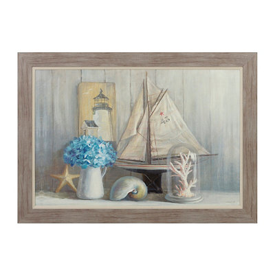 Coastal Vignette Framed Art Print
