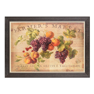 Farmer's Market Framed Art Print