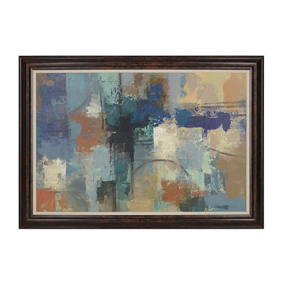 Abstract Blues Framed Art Print