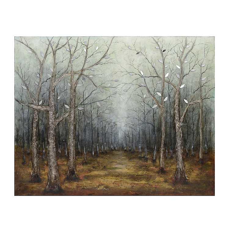 Mirrored Leaves Canvas Art Print Kirklands