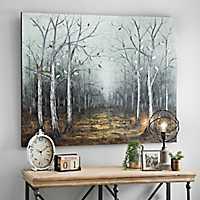 Mirrored Leaves Canvas Art Print
