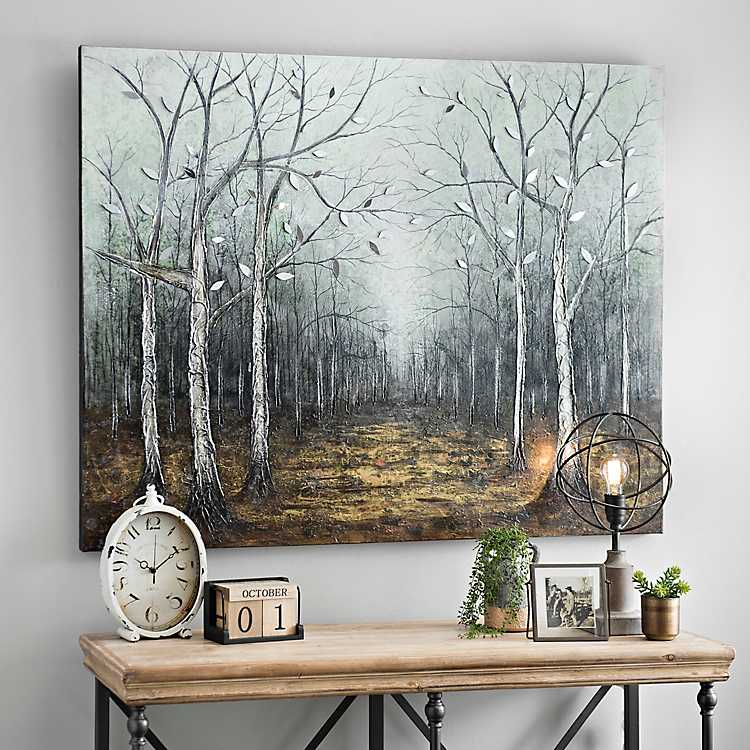 Mirrored Leaves Canvas Art Print | Kirklands