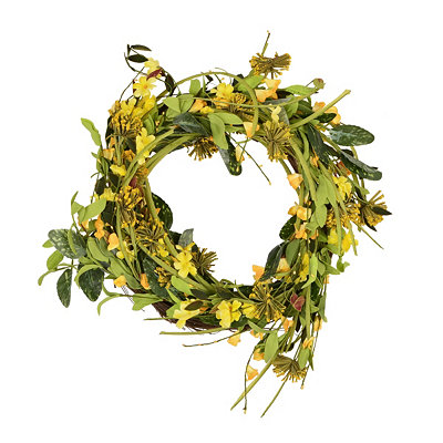 Yellow Tangerine Wreath, 20 in.