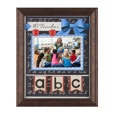 Number One Teacher Picture Frame, 4x6