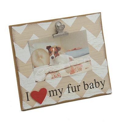 I Heart My Fur Baby Clip Frame, 4x6