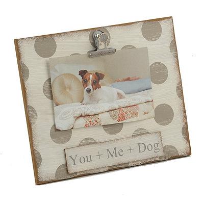 You & Me & the Dog Clip Frame, 4x6